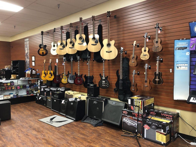 Glasbena trgovina z glasbili in dodatno opremo