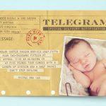 telegram ob rojstvu