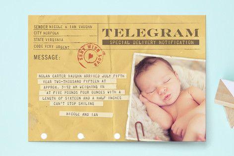 Kako poslati telegram ob rojstvu?